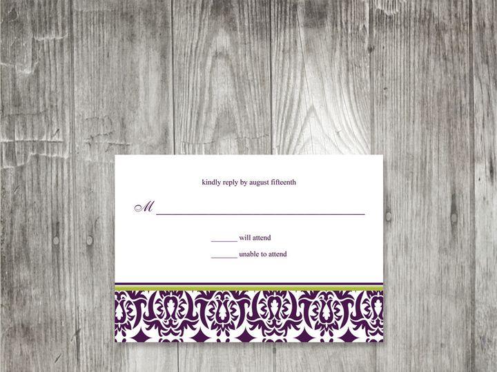 Tmx 1416343222108 Damaskbandweddingresponse Portland wedding invitation