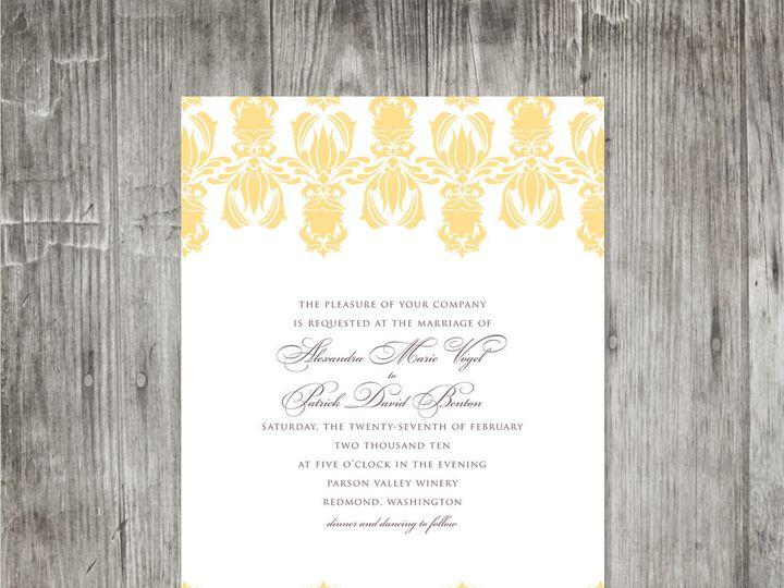 Tmx 1416343237304 Damaskpatternweddinginvite Portland wedding invitation