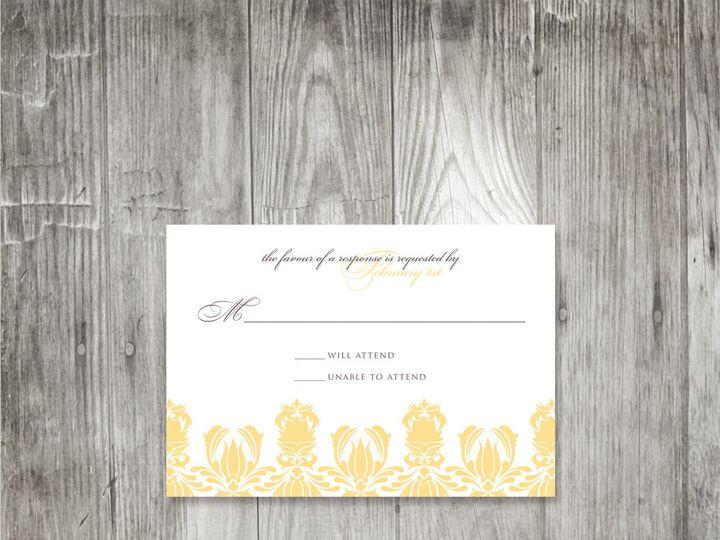 Tmx 1416343247347 Damaskpatternweddingresponse Portland wedding invitation