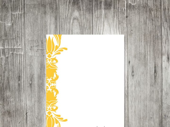 Tmx 1416343254957 Damasksimpleflatnotecard Portland wedding invitation