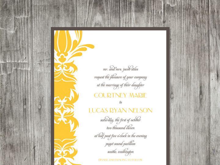 Tmx 1416343266387 Damasksimpleweddinginvitation Portland wedding invitation