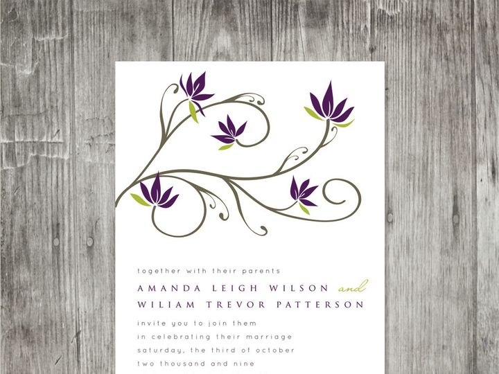 Tmx 1416343273474 Floralbranchweddinginvitation4 Portland wedding invitation