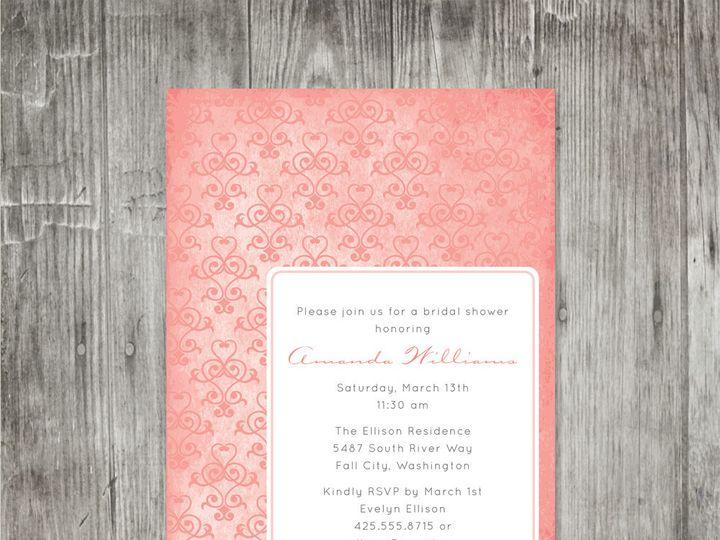 Tmx 1416343361420 Heartflourishinvitation Portland wedding invitation