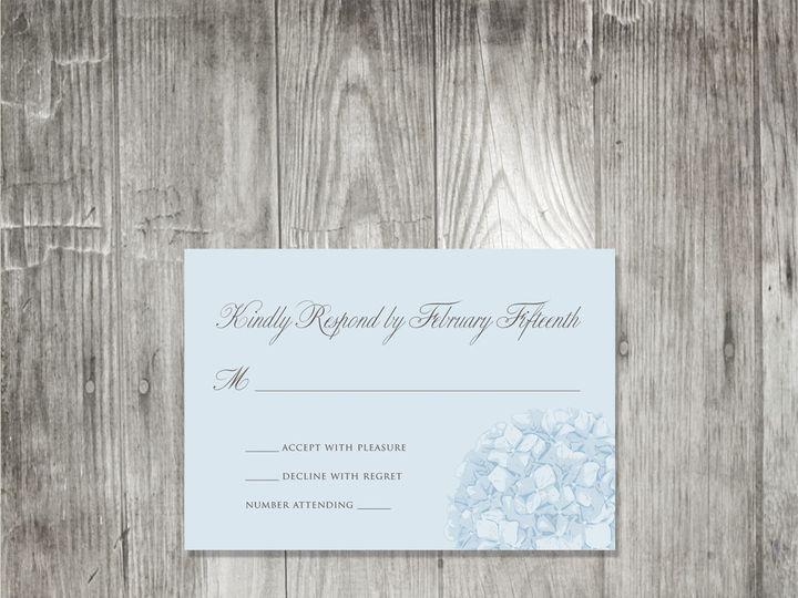 Tmx 1416343393460 Hydrangeaweddingresponse2 Portland wedding invitation