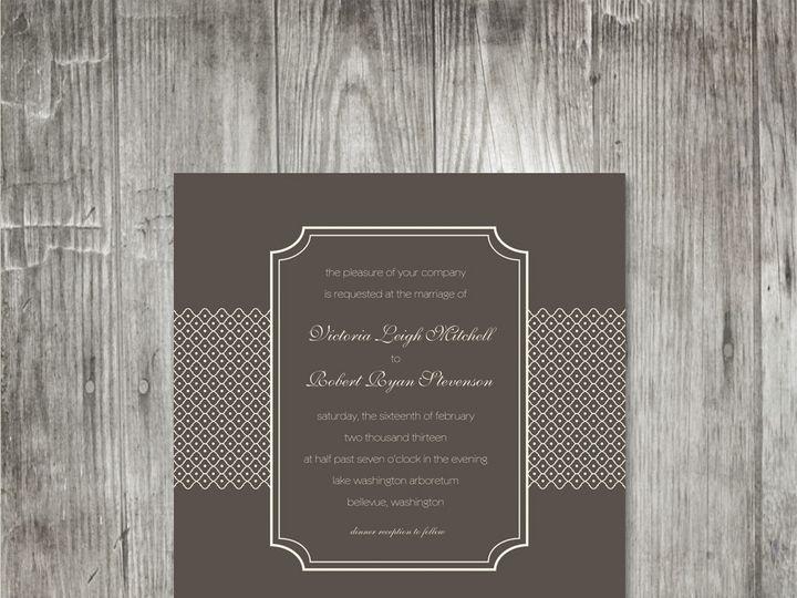 Tmx 1416343411393 Latticebandweddinginvitation Portland wedding invitation