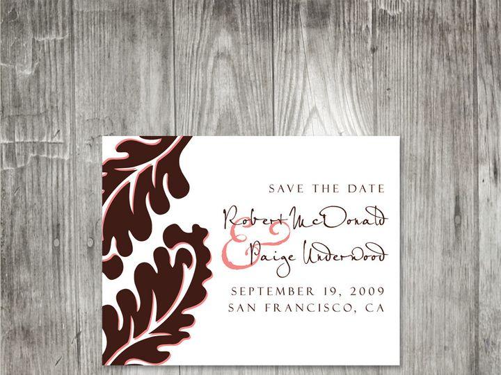 Tmx 1416343419934 Leafsavethedate Portland wedding invitation