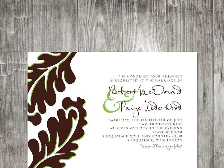 Tmx 1416343427372 Leafweddinginvitation Portland wedding invitation