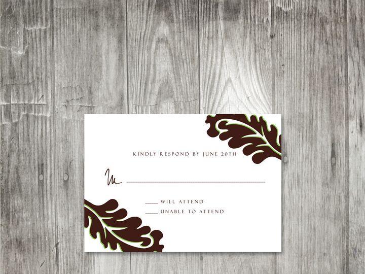 Tmx 1416343434635 Leafweddingresponse Portland wedding invitation