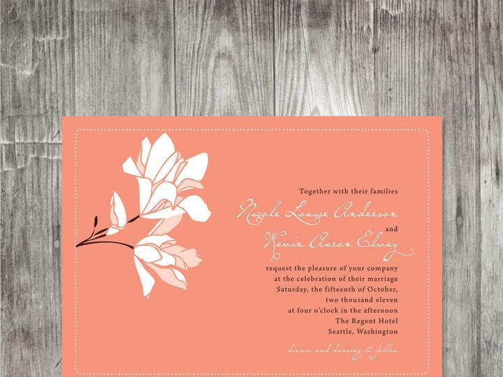 Tmx 1416343475465 Magnoliaweddinginvitationcoral Portland wedding invitation