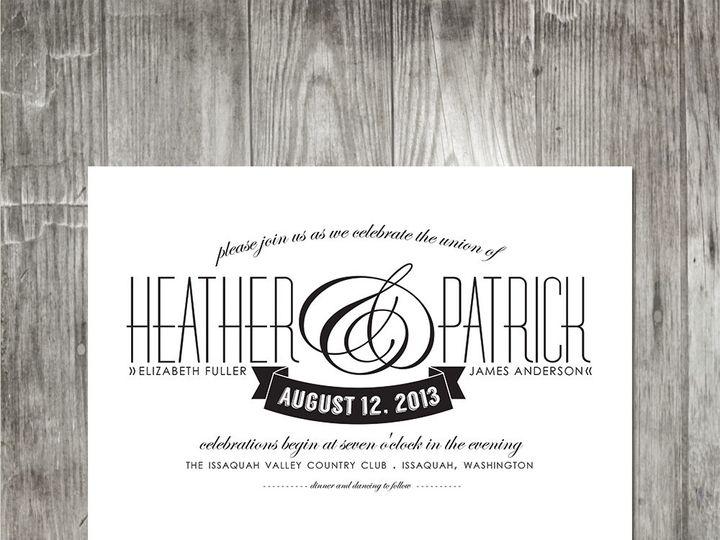 Tmx 1416343517295 Moderneleganceinvite Portland wedding invitation