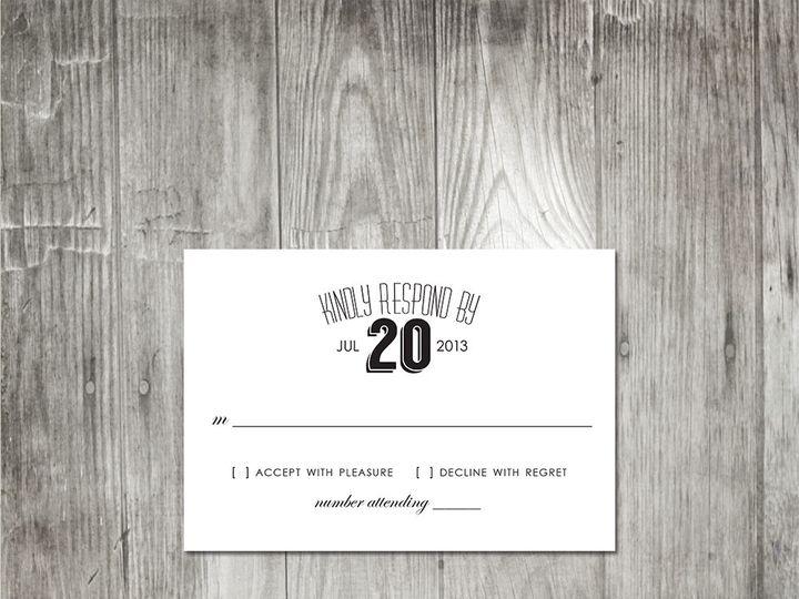 Tmx 1416343532224 Moderneleganceresponse Portland wedding invitation