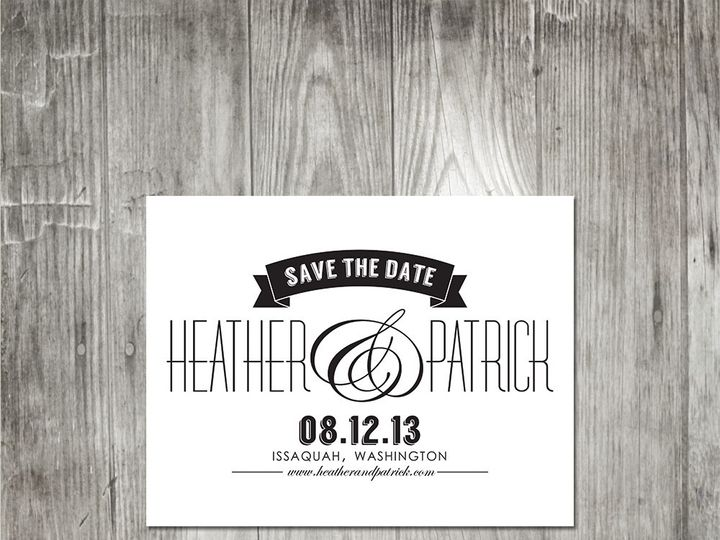 Tmx 1416343539309 Modernelegancesavethedate Portland wedding invitation