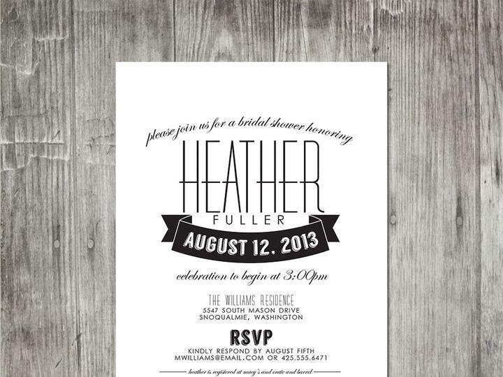 Tmx 1416343548091 Moderneleganceshowerinvite Portland wedding invitation