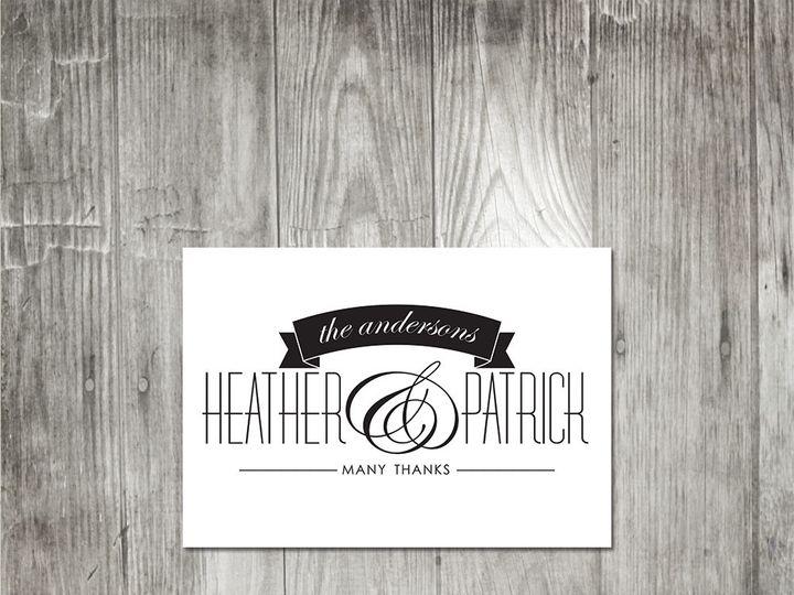 Tmx 1416343555786 Modernelegancethankyou Portland wedding invitation
