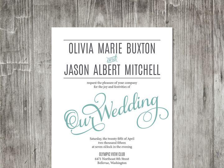 Tmx 1416343563351 Moderneleganceweddinginvitation Portland wedding invitation