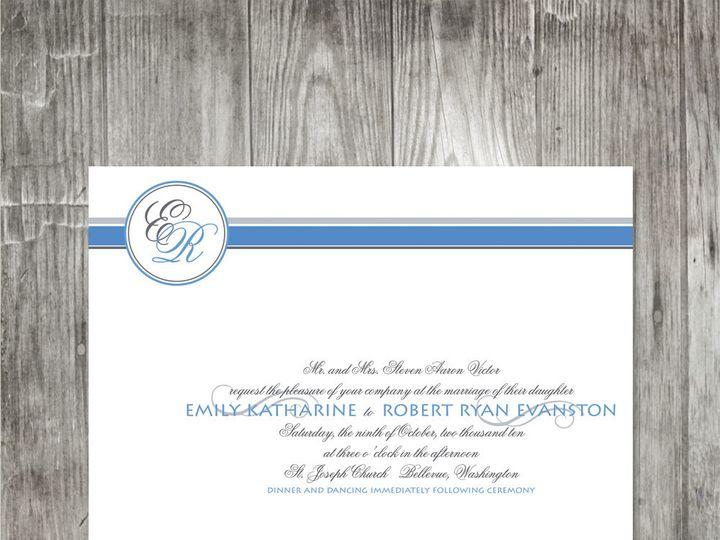 Tmx 1416343578812 Monogrambandinvitation Portland wedding invitation