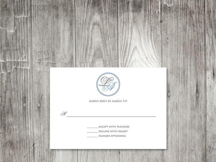 Tmx 1416343585556 Monogrambandweddingresponse Portland wedding invitation