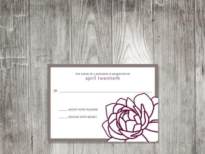 Tmx 1416343775303 Peekingpeonyresponse Portland wedding invitation