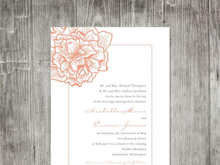 Tmx 1416343805918 Peonydelicateweddinginvitation Portland wedding invitation