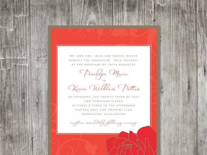 Tmx 1416343862798 Peonyflourishinvitation Portland wedding invitation