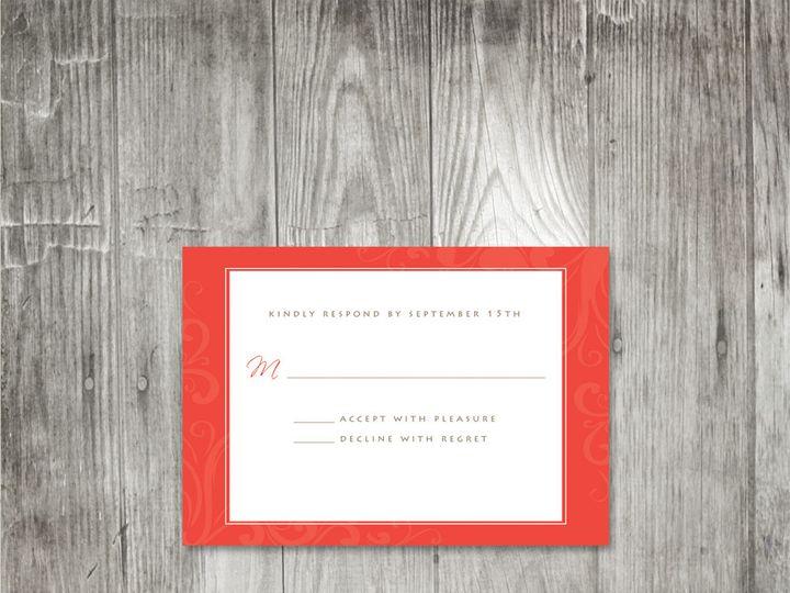 Tmx 1416343870317 Peonyflourishresponse Portland wedding invitation