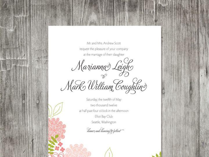 Tmx 1416344038896 Springblossomsweddinginvitation Portland wedding invitation