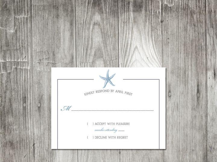 Tmx 1416344080641 Starfishmonogramweddingresponse Portland wedding invitation