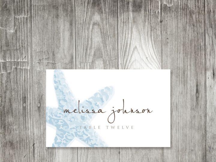 Tmx 1416344117495 Starfishplacecard3 Portland wedding invitation