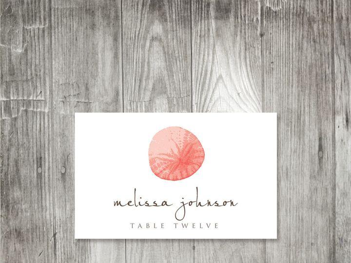 Tmx 1416344133625 Starfishsanddollarplacecard2 Portland wedding invitation