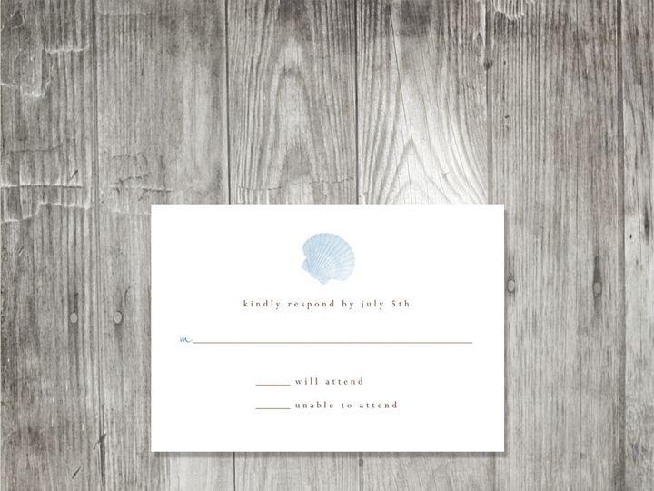 Tmx 1416344170889 Starfishshellweddingresponse Portland wedding invitation