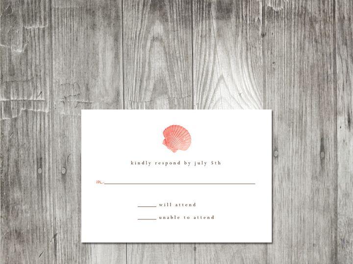 Tmx 1416344182585 Starfishshellweddingresponse2 Portland wedding invitation
