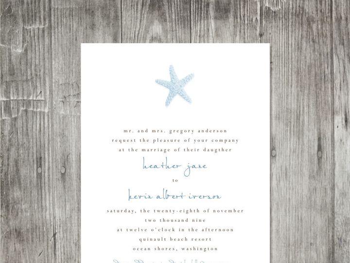 Tmx 1416344188908 Starfishweddinginvitationvertical Portland wedding invitation