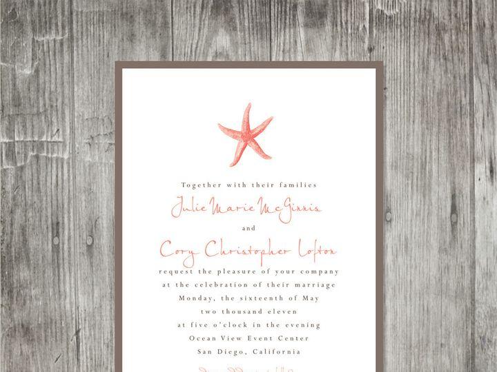 Tmx 1416344197187 Starfishweddinginvitation2 Portland wedding invitation