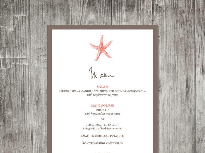 Tmx 1416344208329 Starfishweddingmenu Portland wedding invitation