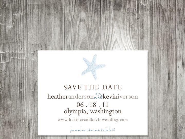 Tmx 1416344219742 Starfishweddingsavethedate Portland wedding invitation