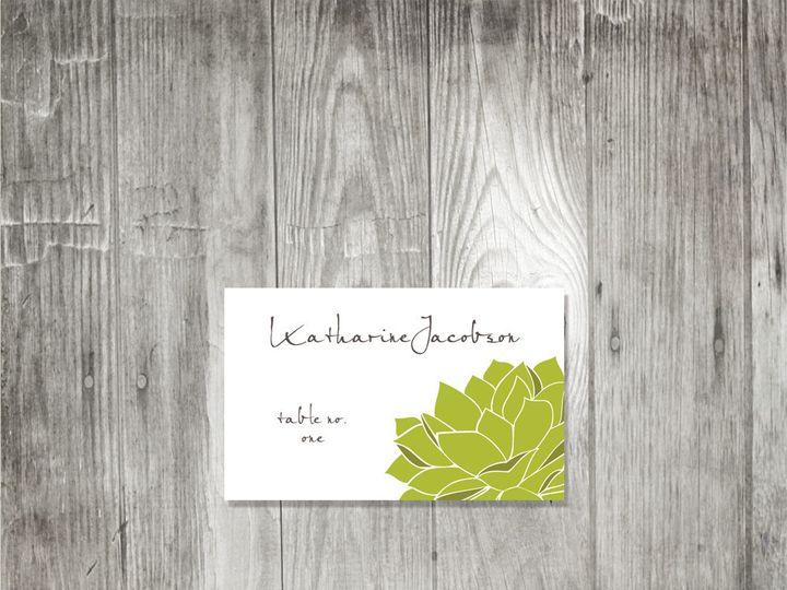 Tmx 1416344230025 Succulentplacecard1 Portland wedding invitation