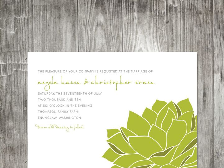 Tmx 1416344238852 Succulentweddinginvitation Portland wedding invitation