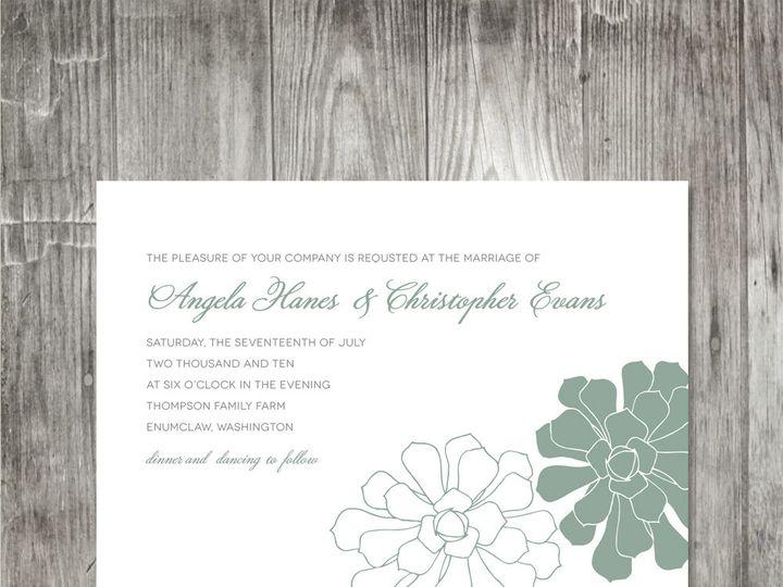 Tmx 1416344248809 Succulentweddinginvitationv2 Portland wedding invitation