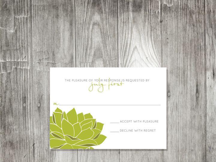 Tmx 1416344260839 Succulentweddingresponse Portland wedding invitation