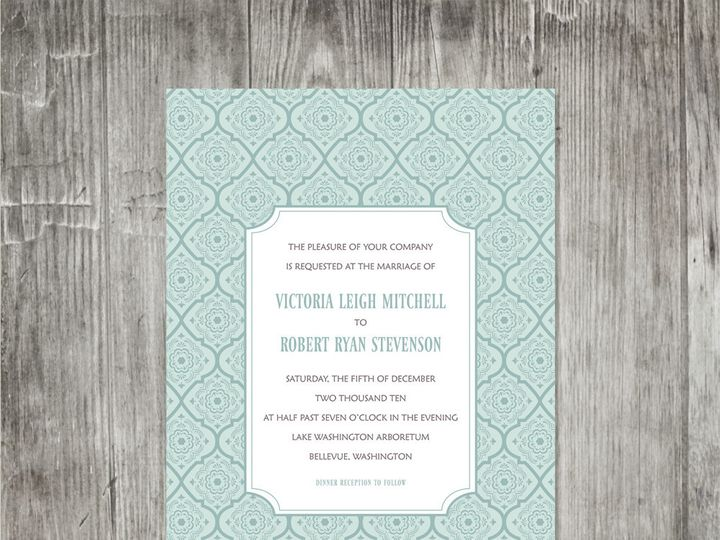Tmx 1416344275725 Victorianpatterninvitation Portland wedding invitation