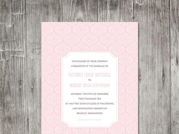 Tmx 1416344301212 Victorianpatterninvitationpink Portland wedding invitation