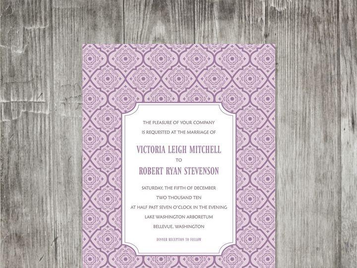 Tmx 1416344311799 Victorianpatterninvitationpurple Portland wedding invitation