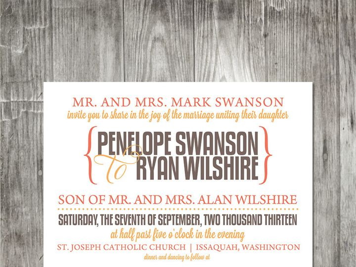 Tmx 1416347547107 Moderncelebration2weddinginvitation Portland wedding invitation