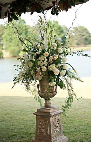 White flowers with classy stand
