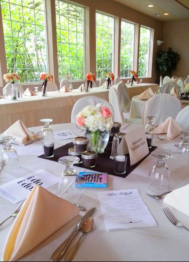 Sample table setting
