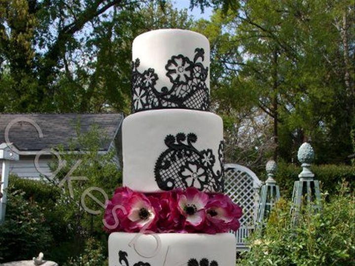Tmx 1328396443640 Blackspanishlacewatermark Raleigh, NC wedding cake