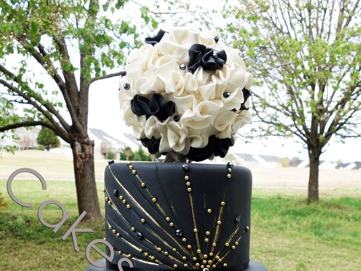 Tmx 1421081849956 Blackwhiteballwatermark Raleigh, NC wedding cake