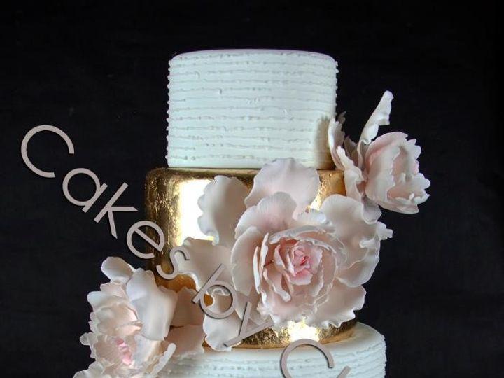 Tmx 1421081955497 Blushgold Raleigh, NC wedding cake