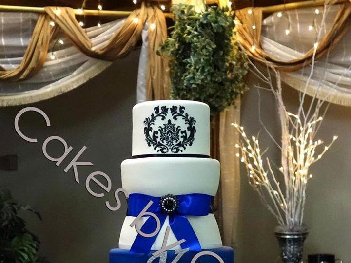 Tmx 1421081959218 Blueblack Raleigh, NC wedding cake