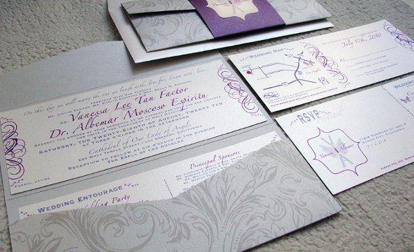 Wedding invitation tear-off rsvp postcard
